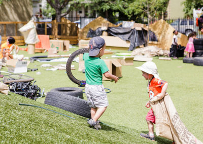Free Play with Wheels and Bags
